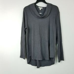 Style&CO XL Grey Cowl Pullover Sweater 6AR44